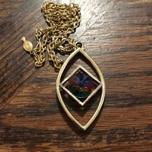 Sarah Coventry necklace with purple stone